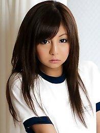 Honey Japan teen Hikaru Aoyama in short shows her pussy