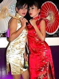 Oriental Girls in Lesbian action