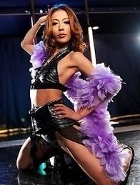 Sally Yoshino displays her body