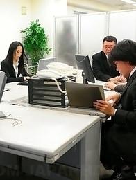Ai Mizushima enjoys three peckers