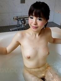 Ayu Kawashima takes a hot shower