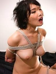 Bondage slave Akari Misaki loves to be tied up and abused.