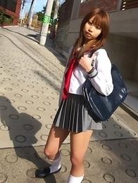 Satsuki Konichi in uniform shows that she is not a good gal