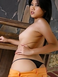 Amazing Asian girl Diana Lee spreading pussy