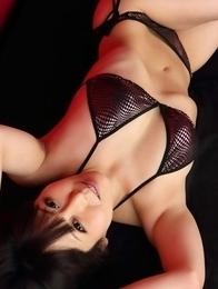 Maria Akamine on heels is very hard to resist in lingerie