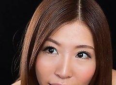 Rin Miura Massages Dick with Cum