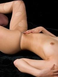 Pantyhose-clad hottie Natsuki Yokoyama enjoying hardcore masturbation and more