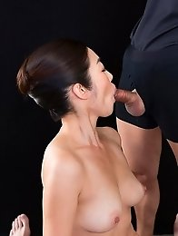 Ryu Enami Strokes with Cum