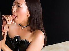 Miyuki Fukatsu Sucks Cock with Thick Cum