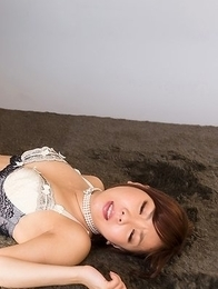 Mio Yoshida gets her soft soles fucked and that gets her really wet
