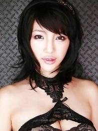 Yuuri Morishita busty in lace lingerie wants to punish men
