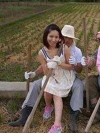 Nagisa, Hana, Maria are farmer girls ready