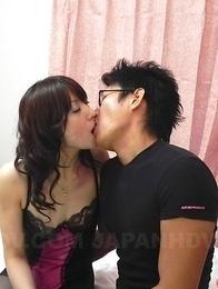 Asian Miku Sachi gets cum between tits after