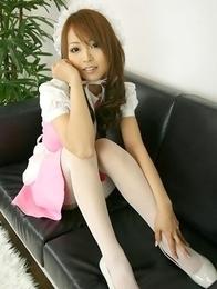 Momoka Narushima in long sucks is very sexy house keeper