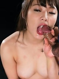 Yui Kawagoe Blowjob with Her Cum Filled Mouth