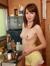 Chika Sasaki shows hairy pussy, round tits
